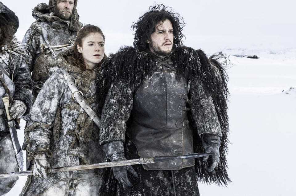 Rose Leslie and Kit Harington in the Game of Thrones Season 3 premiere, Valar Dohaeris.