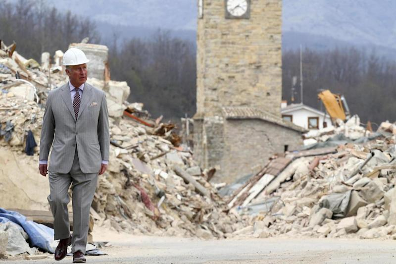 Visit: Prince Charles visits earthquake-hit Amatrice (AP)