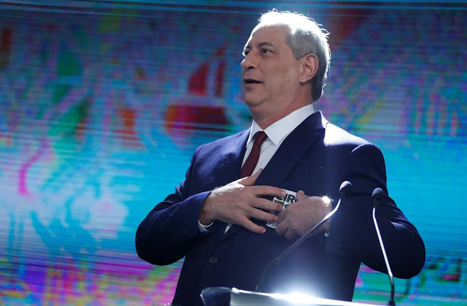 Presidential candidate Ciro Gomes attends a televised debate in Sao Paulo, Brazil September 30, 2018.   REUTERS/Nacho Doce