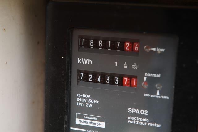 An electricity meter (Nick Ansell/PA)