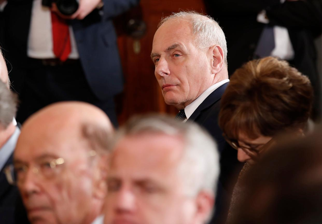 White House chief of staff John Kelly has disparaged President Donald Trump's intelligence on several occasions, according to NBC News. (Photo: Kevin Lamarque/Reuters)