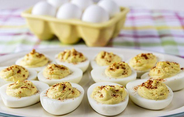Devilled eggs. Yum!