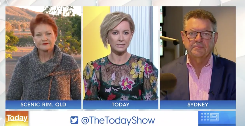 Steve took part in a widely-panned Today Show panel on the Uluru climbing ban on Monday morning. Photo: Channel Nine