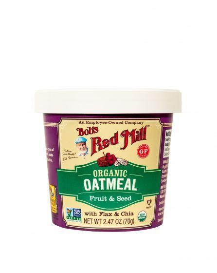 "<h2>Bob's Red Mill Organic Fruit and Seed Oatmeal Cup</h2> <br>Davis is a big fan of oatmeal cups. ""These are great sources of both protein and fiber, with fiber clocking in at 6 to 8 grams per cup,"" Davis says. ""As a dietitian, I love them!""<br><br>The cups are great if you're in a rush, but you can <a href=""https://www.refinery29.com/en-us/instant-oatmeal-recipe-hacks"" rel=""nofollow noopener"" target=""_blank"" data-ylk=""slk:make your own oatmeal"" class=""link rapid-noclick-resp"">make your own oatmeal</a> too. A cup of cooked oatmeal on its own has about four grams of fiber; adding mix-ins like fruit, seeds, and nuts can increase the amount of fiber you're getting (and make the whole treat tastier). <br><br><strong>Bob's Red Mill</strong> Organic Fruit and Seed Oatmeal Cup, $, available at <a href=""https://go.skimresources.com/?id=30283X879131&url=https%3A%2F%2Fwww.bobsredmill.com%2Fshop%2Foats%2Forganic-gluten-free-fruit-and-seed-oatmeal-cup.html"" rel=""nofollow noopener"" target=""_blank"" data-ylk=""slk:Bob's Red Mill"" class=""link rapid-noclick-resp"">Bob's Red Mill</a><br><br><br>"