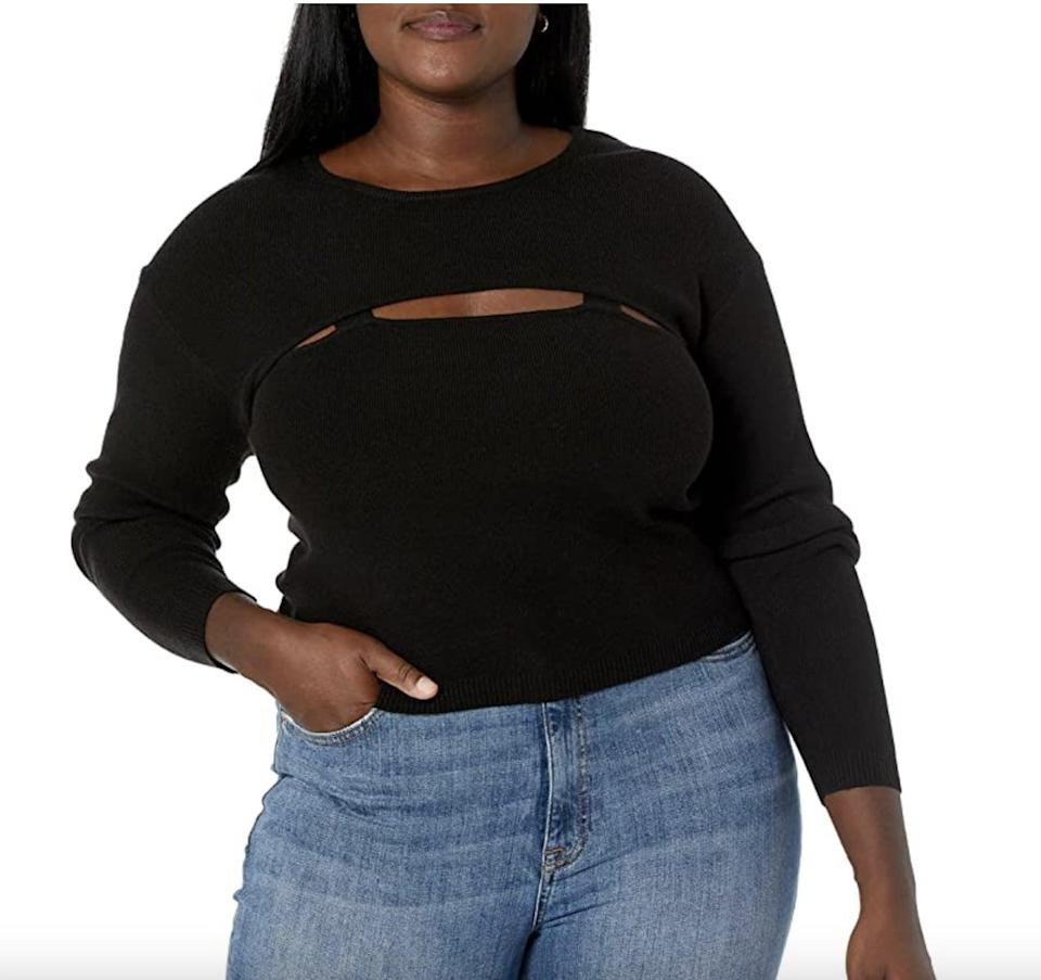 <p>This <span>The Drop Nomi Cut-Out Sweater</span> ($45) is playful and unexpected. The subtle skin reveal adds a flattering sultry touch.</p>