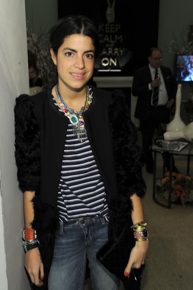 NEW YORK, NY - FEBRUARY 13:  Leandra Medine  attends  Mercedes-Benz Fashion Week at Lincoln Center on February 13, 2012 in New York City.  (Photo by Michael Buckner/Getty Images  for Mercedes-Benz Fashion Week)