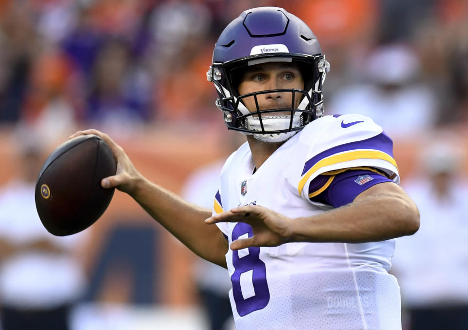 Lots of green, Cousins in purple: A new documentary series gives a behind-the-scenes look of how Kirk Cousins became a Minnesota Viking. (AP)