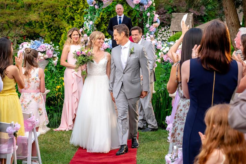"""Debbie Gibson in """"Wedding of Dreams,"""" which is loosely based on her life. (Photo: Hallmark)"""