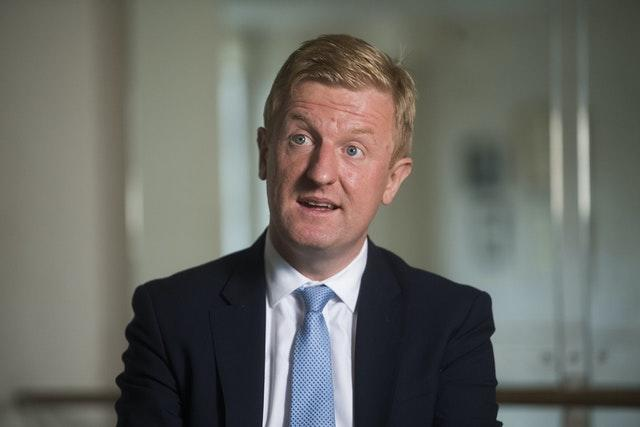 Culture Secretary Oliver Dowden at the Royal Academy of Dance in London