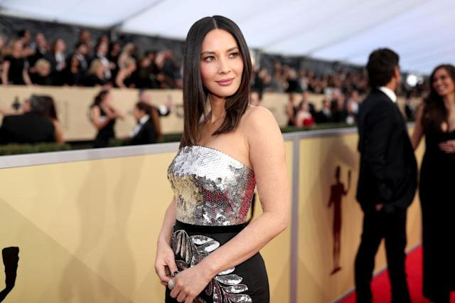 Olivia Munn attends the 24th Annual Screen Actors Guild Awards at The Shrine Auditorium on January 21, 2018 in Los Angeles, California. (Photo: Getty Images)