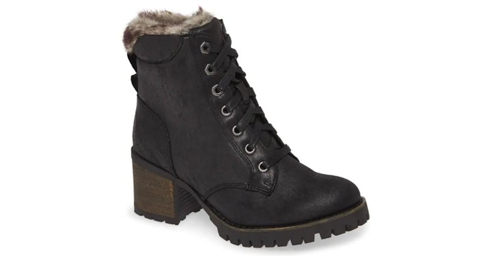 Steve Madden Comfort Faux Fur Trim Bootie - $40 (originally $100)