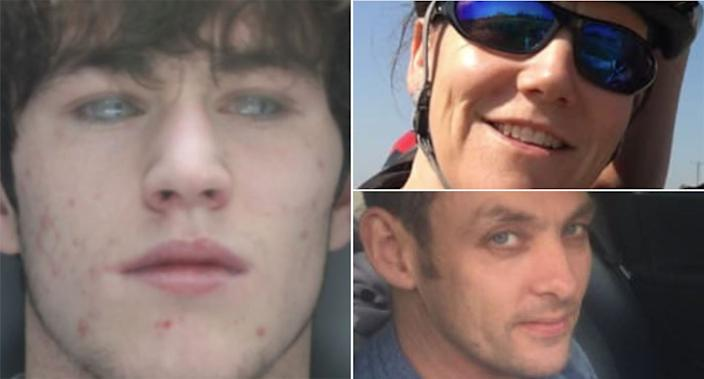 Clare Killey and Anthony Cope were killed when Colin Smith (left) ploughed into them in a speeding car. (Police Handout)
