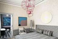 "<p>This playful bedroom lighting scheme is a fun juxtaposition to <a href=""https://www.veranda.com/home-decorators/a30145127/jean-louis-deniot-paris-flat/"" rel=""nofollow noopener"" target=""_blank"" data-ylk=""slk:a Rue de Rivoli home"" class=""link rapid-noclick-resp"">a Rue de Rivoli home</a>'s 18th-century architecture and rich history. French designer <a href=""https://www.deniot.com/"" rel=""nofollow noopener"" target=""_blank"" data-ylk=""slk:Jean-Louis Deniot"" class=""link rapid-noclick-resp"">Jean-Louis Deniot</a> leans into unique, sculptural lighting throughout the home, and this main bedroom suite features some of the most bold lighting options. The lacquered ""hip hop"" pendant is by Hervé Van der Straeten and the oversize yet understated table lamp complements the varying shades of gray used throughout the bedroom.</p>"