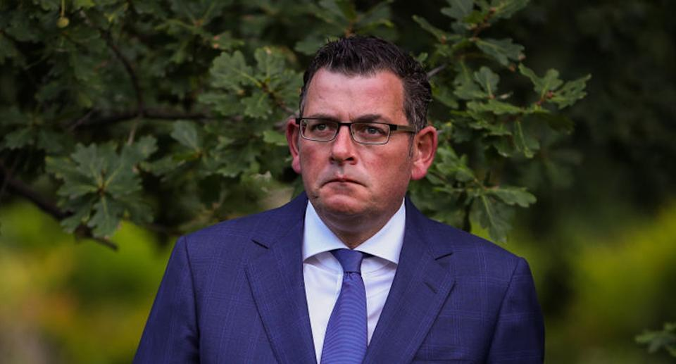 Daniel Andrews is pictured. Victoria has recorded two new local cases of coronavirus.