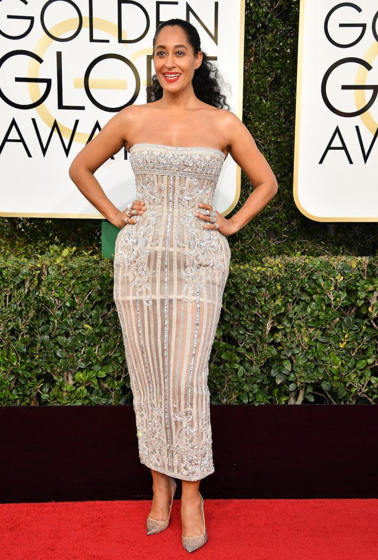 Tracee Ellis Ross in Zuhair Murad. (Photo: Getty Images)