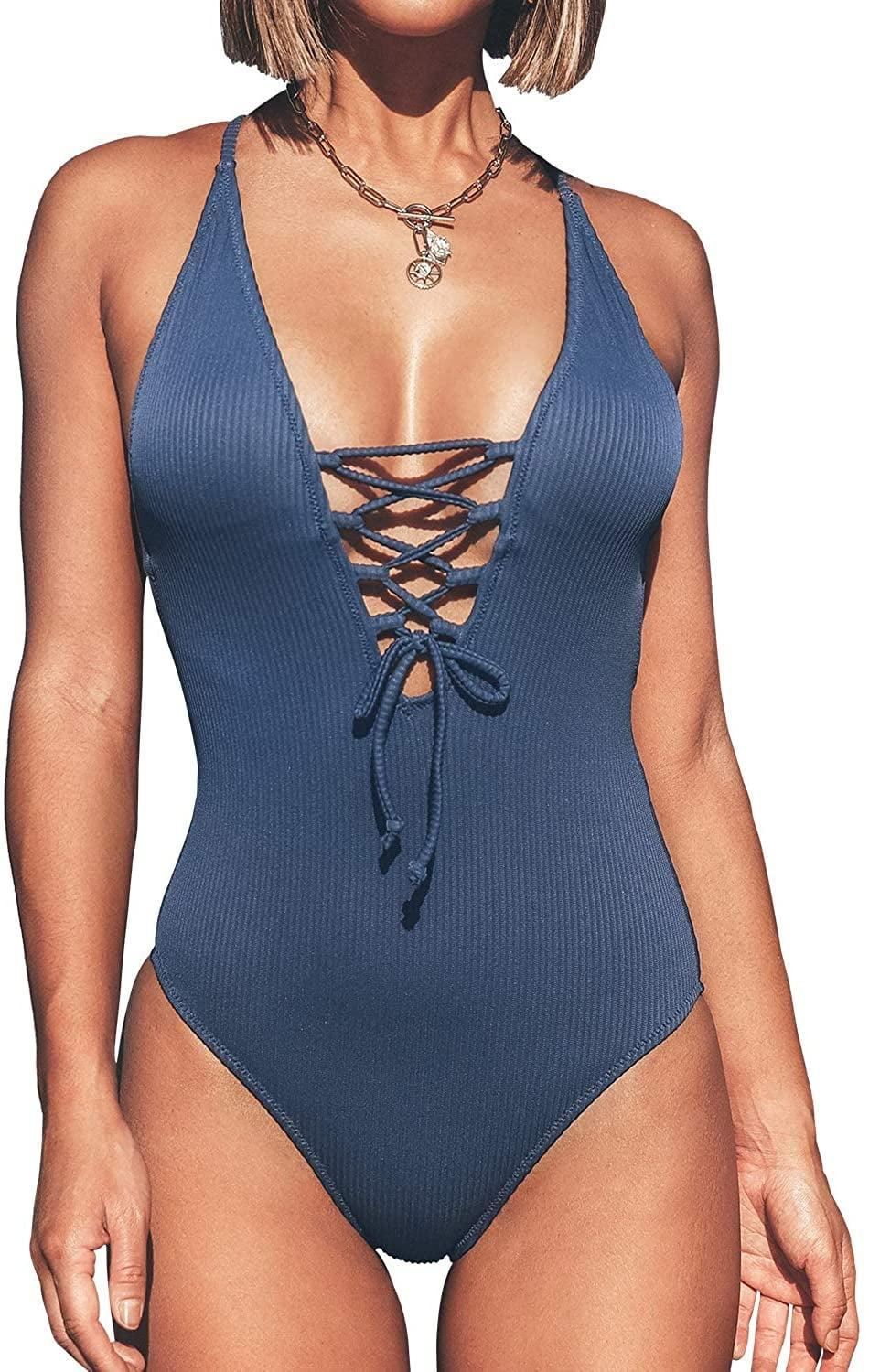 <p>This <span>Cupshe Lace Up One-Piece Swimsuit</span> ($30) will make you feel sexy and confident.</p>