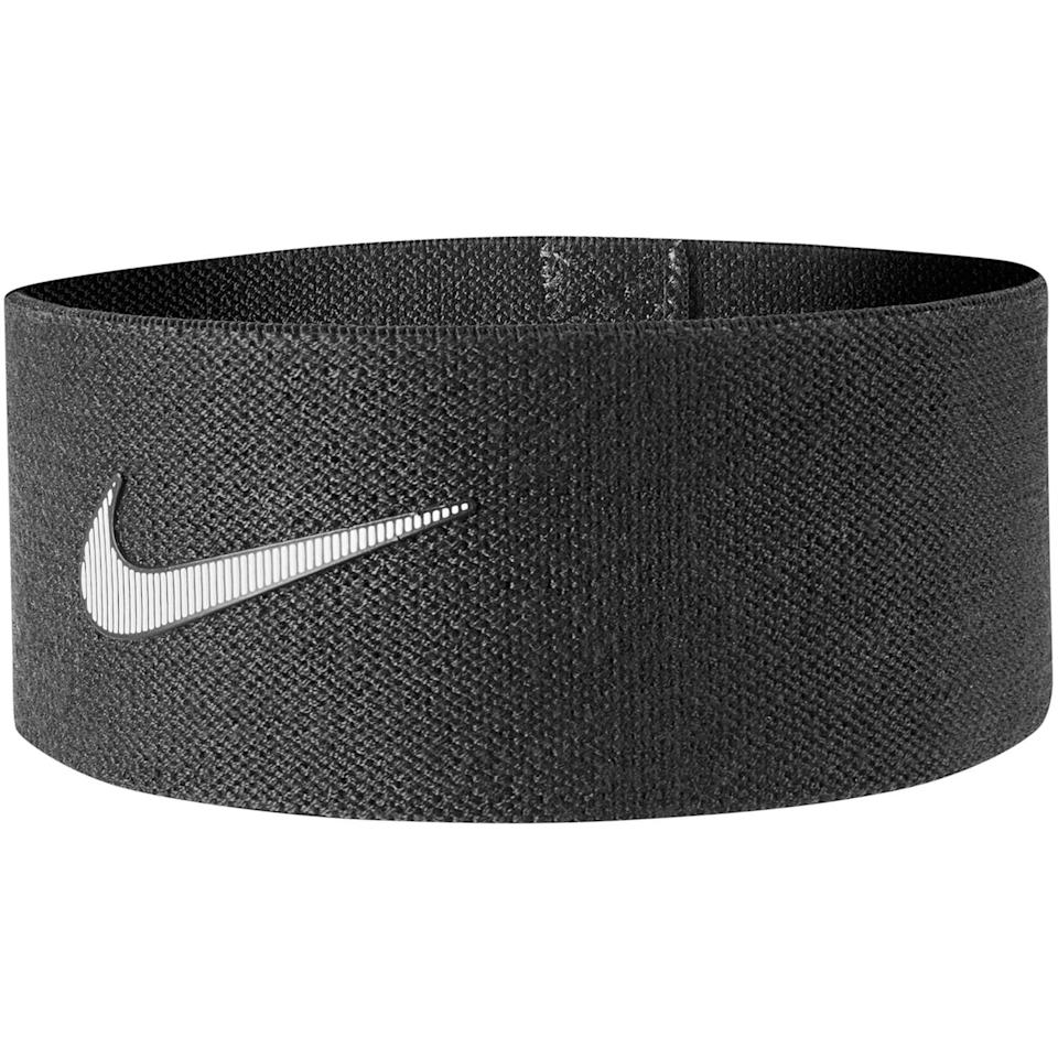 """<h3>Nike Resistance Loop</h3><br>Nike's sturdy knit resistance loop is lined with silicone to stay securely in place no matter how many squats you put it through.<br><br><strong>Nike</strong> Resistance Loop, $, available at <a href=""""https://go.skimresources.com/?id=30283X879131&url=https%3A%2F%2Fwww.kohls.com%2Fproduct%2Fprd-3687572%2Fnike-resistance-loop.jsp"""" rel=""""nofollow noopener"""" target=""""_blank"""" data-ylk=""""slk:Kohl's"""" class=""""link rapid-noclick-resp"""">Kohl's</a>"""