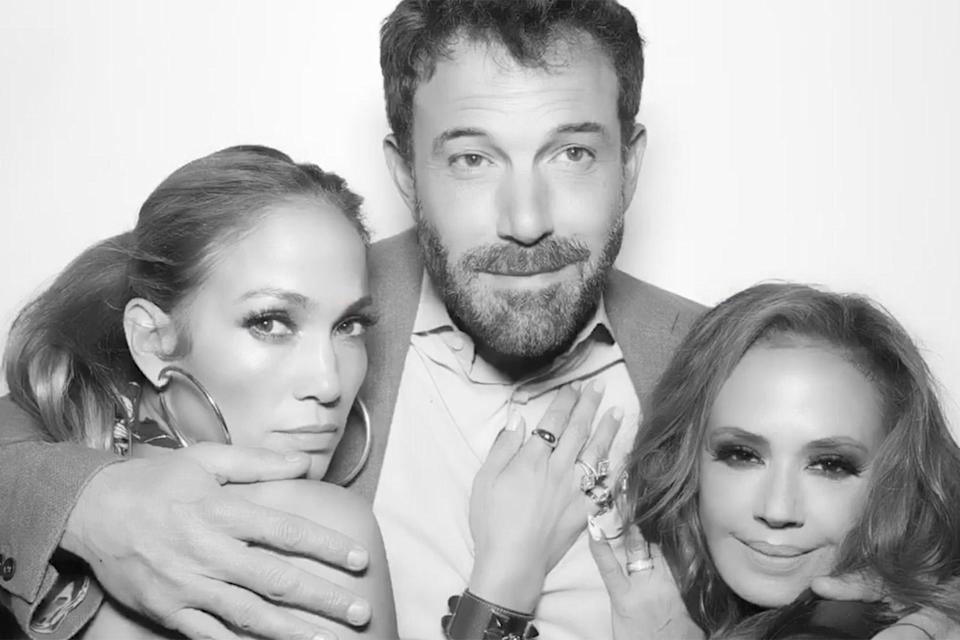 """<p>Before Lopez had taken her rekindled romance Instagram official, close pal Leah Remini <a href=""""https://www.instagram.com/p/CRpWy0EgELM/"""" rel=""""nofollow noopener"""" target=""""_blank"""" data-ylk=""""slk:shared snaps"""" class=""""link rapid-noclick-resp"""">shared snaps</a> on her own account from her star-studded 51st birthday bash — including one black-and-white photo that featured Lopez and Affleck <a href=""""https://people.com/movies/jennifer-lopez-and-ben-affleck-photo-booth-leah-reminis-birthday-party/"""" rel=""""nofollow noopener"""" target=""""_blank"""" data-ylk=""""slk:getting cozy in a photo booth"""" class=""""link rapid-noclick-resp"""">getting cozy in a photo booth</a>.</p>"""