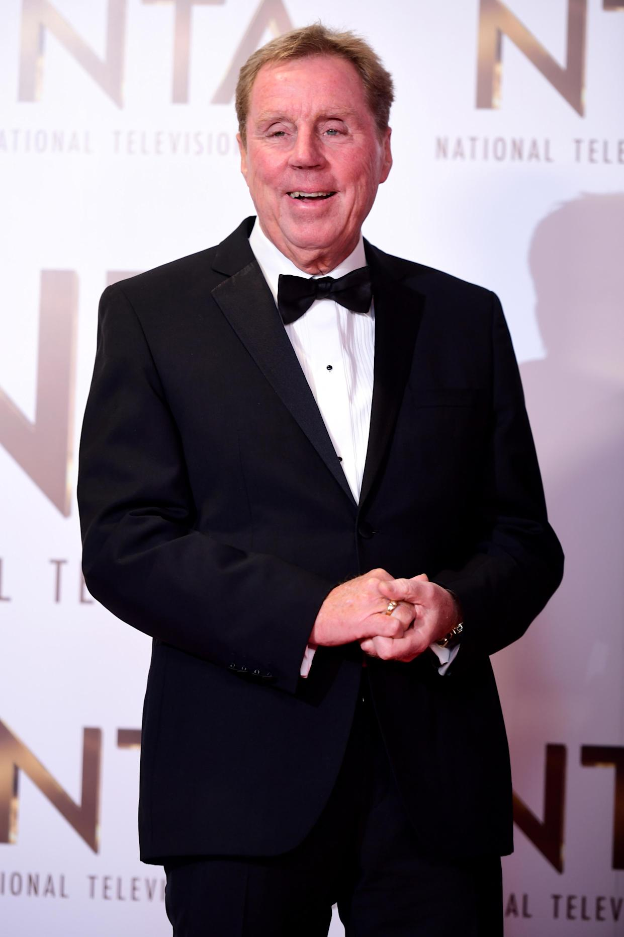 Harry Redknapp in the Press Room at the National Television Awards 2019 held at the O2 Arena, London.