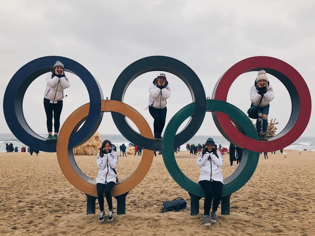 <p>maggie_voisin: We love Korea! #pyeongchang2018 <br /> (Photo via Instagram/maggie_voisin) </p>