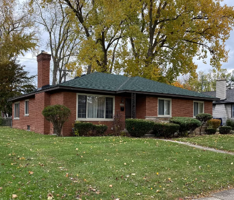 Pictured is the exterior of the five-bedroom home in Michigan. Source: Zillow