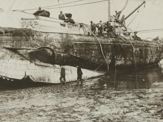 Identical to the sunken U-boat being investigated by the University of Southampton, this image shows UC47's sister vessel,UC44. Unfortunately, no image of UC47 herself is known to survive