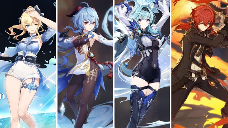 Jean, Ganyu, Eula and Diluc (Images: miHoYo)