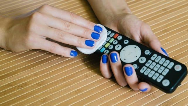 Your remote is crawling with scary bacteria—here's how to clean it