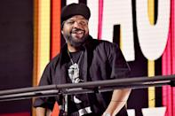 <p>Ice Cube performs during the Triller Fight Club: Jake Paul vs. Ben Askren event at Mercedes-Benz Stadium in Atlanta.</p>