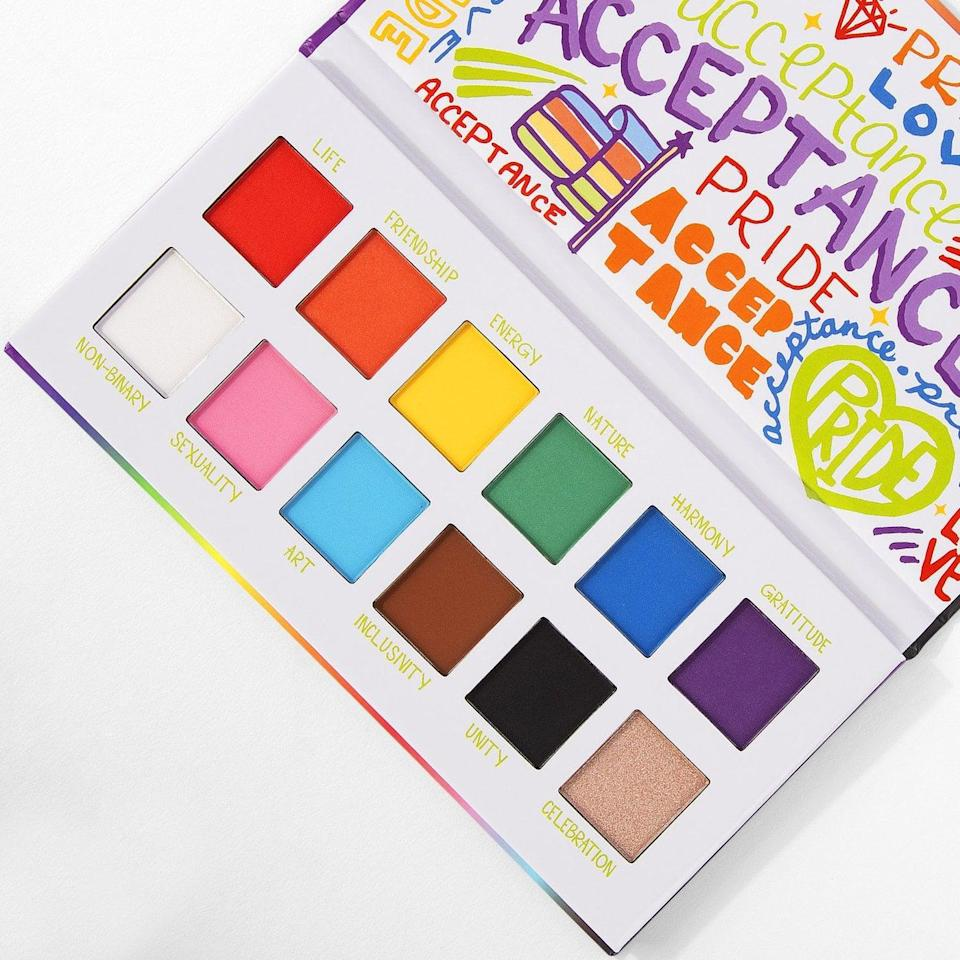 <p>Embrace bold colors and get creative with the <span>BH Cosmetics Give Back Pride Shadow Palette</span> ($19). $10 from every purchase of this shadow palette will be donated to The Trevor Project.</p>