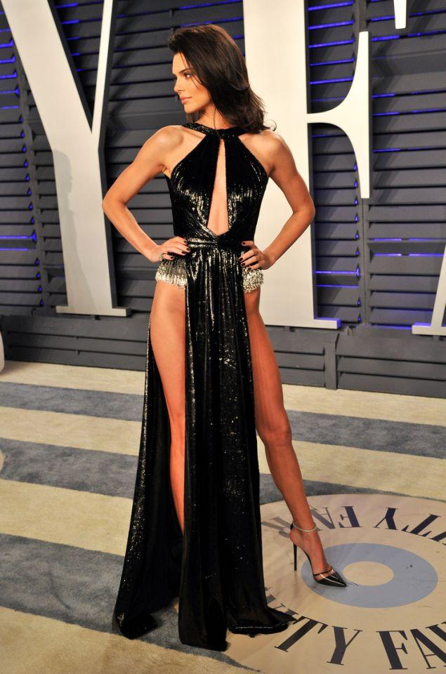 Kendall Jenner flashing plenty of sideflank. Photo: Getty