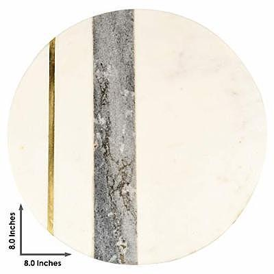 Gauri Kohli Gray Marble Cheese Plate With Gold Inlay (Credit: Amazon)