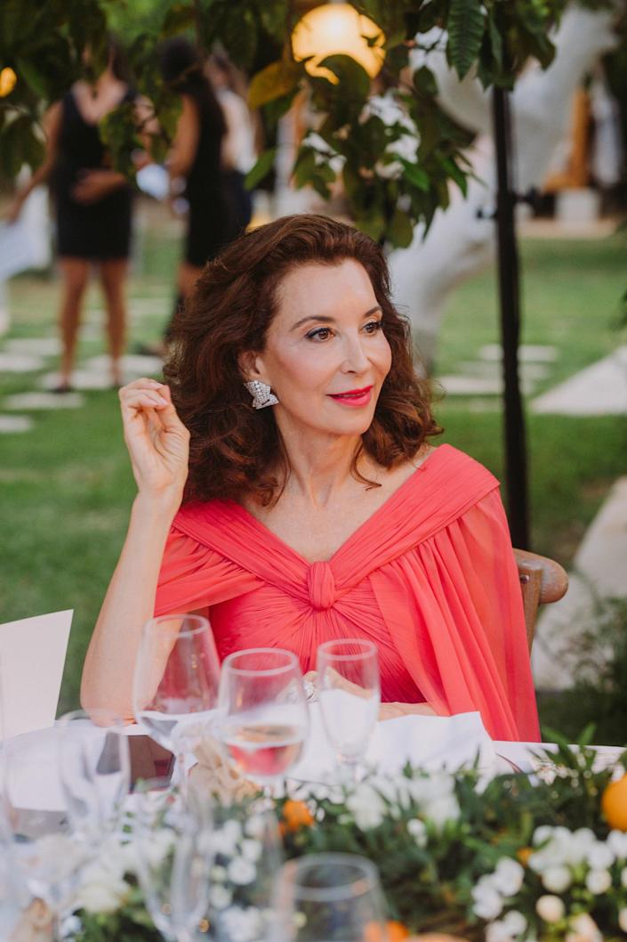 My mother, who is absolutely stunning, in her gorgeous custom gown by Pierpaolo Piccioli for Valentino Haute Couture.