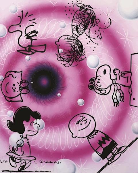 A New York City mural by Kenny Scharf for the Peanuts Global Artist Collective