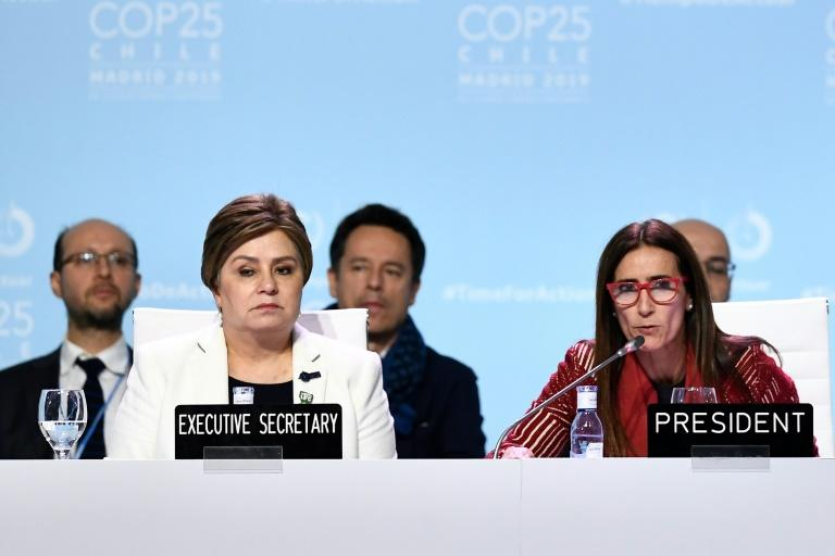 "Madrid negotiators agreed on the ""urgent need"" for new carbon cutting commitments -- but for UN chief Antonio Guterres, the summit was a ""lost opportunity"" (AFP Photo/OSCAR DEL POZO)"