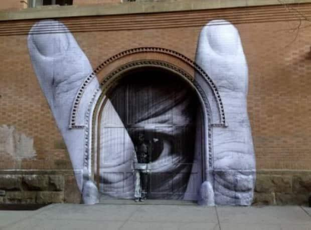 """The arts committee used this picture as an example of how murals """"need to make sense with and use the inherent architecture of the building."""""""