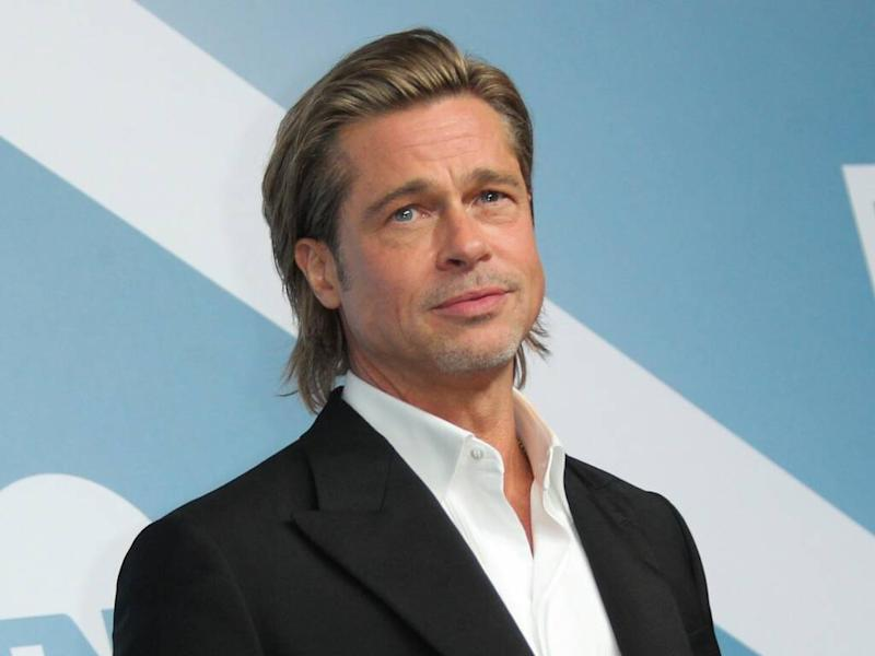 Brad Pitt jokes about failed marriages during SAG Awards acceptance speech