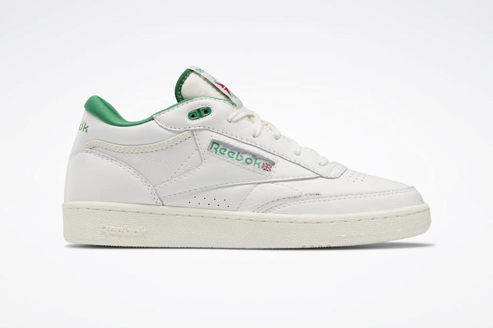 Reebok Club C Mid 2 Vintage in the chalk and glen green colorway. - Credit: Courtesy of Reebok