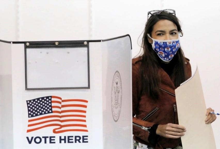 'No place in the US' for an hours-long wait to vote, says AOC (Reuters)