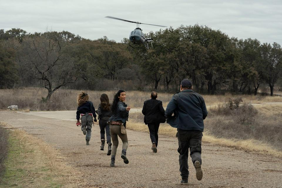 FearTWD 616: A CRM helicopter arrives to save Daniel, Luciana, and others on season 6 finale