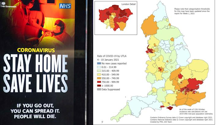 Cases have stopped growing across much of England