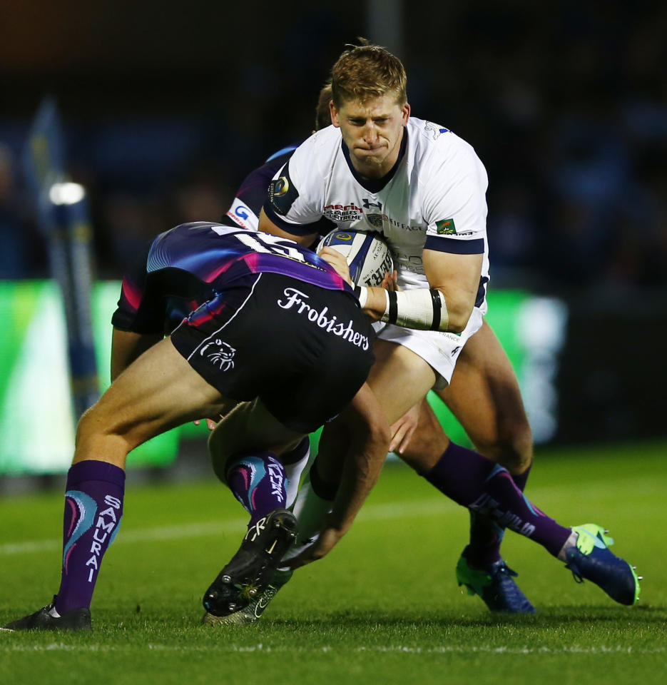 Britain Rugby Union - Exeter Chiefs v ASM Clermont Auvergne - European Rugby Champions Cup Pool Five - Sandy Park - 16/10/16 ASM Clermont Auvergne's David Strettle in action  Action Images via Reuters / Peter Cziborra Livepic EDITORIAL USE ONLY.