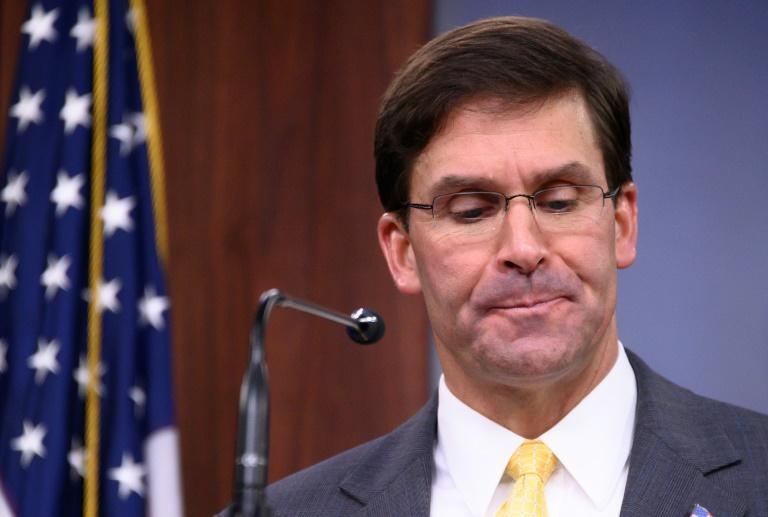 US President Donald Trump fired Defense Secretary Mark Esper (pictured August 2019), drawing warnings from senior politicians not to further destabilize the government