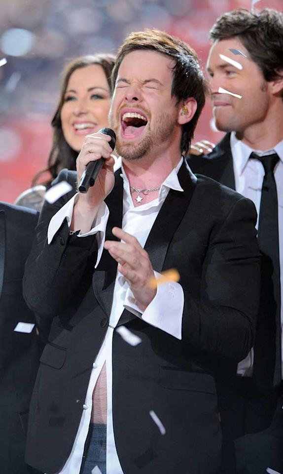 "On Wednesday, David Cook was crowned the seventh ""American Idol"" winner. The rocker earned 12 million more votes that runner-up David Archuleta. Michael Caulfield/<a href=""http://www.wireimage.com"" target=""new"">WireImage.com</a> - May 21, 2008"