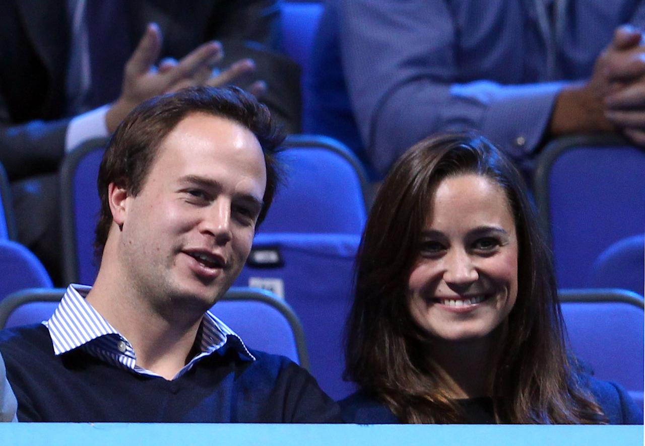 LONDON, ENGLAND - NOVEMBER 27:  Pippa Middleton, sister of the Duchess of Cambridge, attends the Barclays ATP World Tour Finals at the O2 Arena on November 27, 2011 in London, England.  (Photo by Julian Finney/Getty Images)
