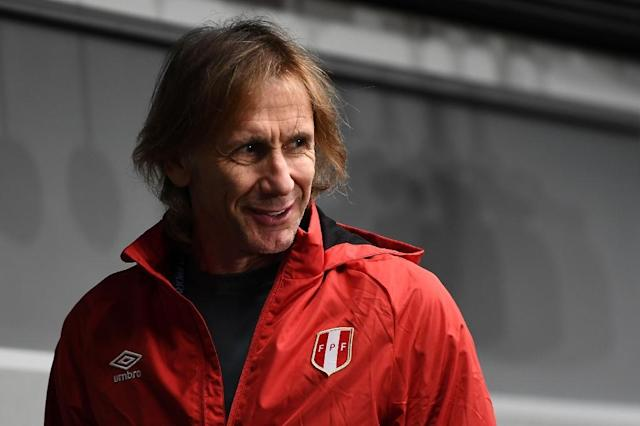Peru coach Ricardo Gareca - 'we are not on France's level' (AFP Photo/Anne-Christine POUJOULAT )