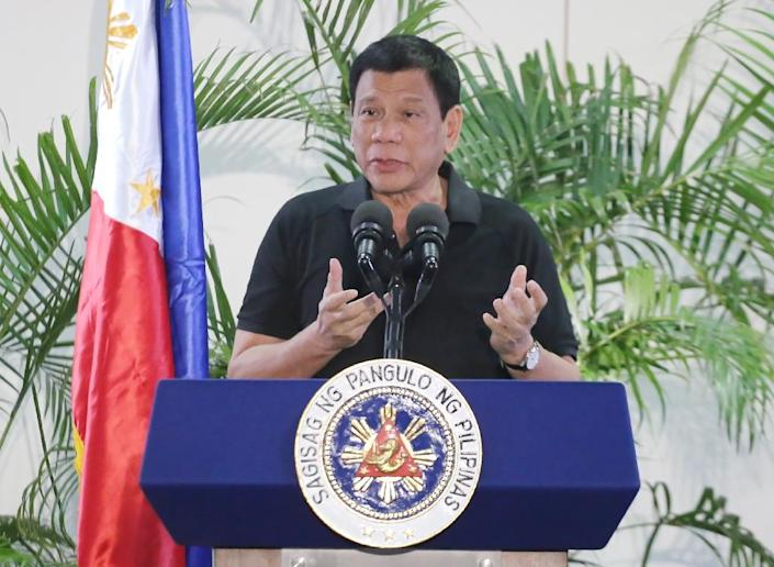 Philippine President Rodrigo Duterte likened his deadly war on crime to Hitler's efforts to exterminate Jews (AFP Photo/Manman Dejeto)
