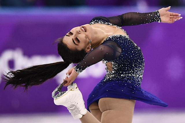 Gabrielle Daleman said she received messages from many other skaters after she opened up about her eating disorder. (AFP Photo/ARIS MESSINIS)