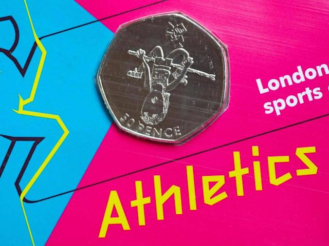 A special edition 50p coin, part of the London 2012 sports collection for the Olympic Games (Alamy)