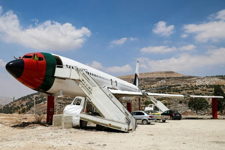 """A decommissioned Boeing 707 aircraft from the 1980s has been converted into """"The Palestinian-Jordanian Airline Restaurant and Coffee Shop Al-Sairafi Nablus"""""""